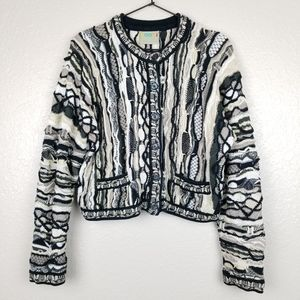 COOGI Vintage Cotton Knit Cardigan Sweater Large